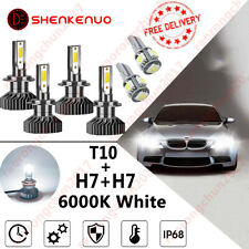 Mercedes Vito W639 H7 501 55w ICE Blue Xenon Low//LED Trade Side Light Bulbs Set