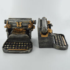 Pair of Vintage Typewriter Book Ends | Resin | Book Worm Author t