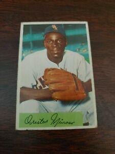 1954 Bowman Minnie minoso baseball card #38 Chicago White Sox VG