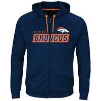 NEW Licensed NFL Denver Broncos Full Zip Sweatshirt Mens L or XL - FREE Shipping