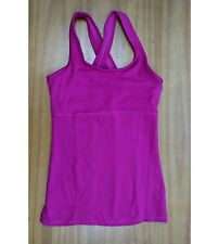 CHAMPION women's sport exercise workout pink crisscross back tank gym top XS