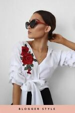 3/4 Sleeve Plus Size Wrap Tops for Women