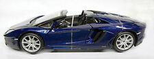 Lamborghini AventadorLP 700-4 Roadster - Blue - 1:24 diecast scale model.