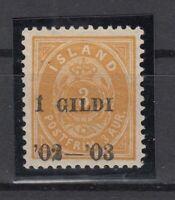 BB5620/ ICELAND – MI # 23B MINT MH SIGNED - CV 215 $