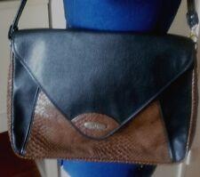 Vintage (80s) large Pierre Cardin crossbody black & brown messanger bag purse