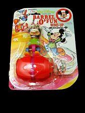 Vintage Durhams Barrel O Fun Wind Up Walt Disney Mickey Mouse Toy Sealed On Card
