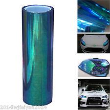 Chameleon Colorful Blue Auto Headlight Taillight Fog Light Vinyl Tint Film Sheet