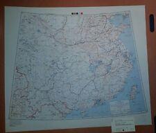 1945 US Army Special Strategic Map China Taiwan Hong Kong WW 2