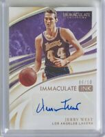2019-20 Panini Immaculate INK Autograph /10 Jerry West Los Angeles Lakers
