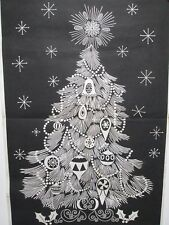 Vintage Tri Chem Picture to Paint Felt USA Poster 7964 Christmas Tree Door Panel