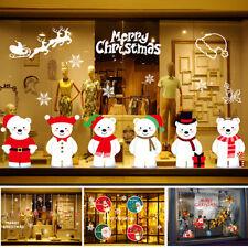Noël Décoration Vitrine Stickers Mural Autocollant Verre Fenêtre Maison Boutique
