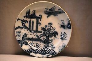 "Antique Porcelain Plate Pountney & Co Bristol Pottery Pekin Pattern Transfer Pr"""