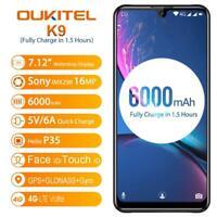 "Oukitel K9 7.12"" Fhd+ Waterdrop P35 Helio Octa c 4gb 64gb Face Id 4g Smartphone"