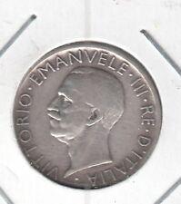 C.R 0229 MONEDA PLATA ITALIA L.5 AÑO 1927