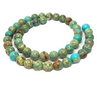 😏 Impressionen Jaspis Kugeln 8 mm hellblau - türkis Perlen Strang für Kette 😉
