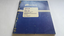 Fiat-Allis 260-B & 261-B Operating and Maintenance Instruction Manual