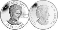 (3)  2011 RCM PRINCE CHARLES, HARRY, WILLIAM $15  FINE SILVER COINS