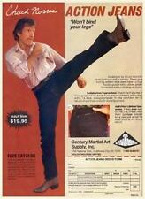 Chuck Norris HUGE POSTER - VERY FUNNY Action Jeans - MUST SEE - Karate Kung Fu