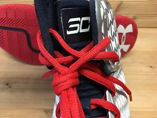 Under Armour UA Clutchfit Drive sz 12.5 White Red USA Olympic Steph Curry PE