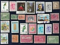 25 ALL DIFFERENT COSTA RICA  STAMPS