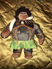 "Disney Store Collection Moana Maui Plush Toy Doll 16"" Demi God"