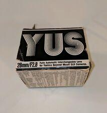 YUS Automatic 28mm f2.8 Manual Focus Wide Yashica/Contax C/Y Bayonet Mount Lens