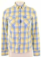 SUPERDRY Womens Shirt Size 6 XS Multicoloured Check Cotton KT21
