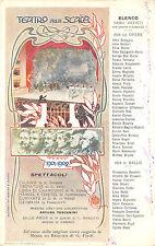 0115) MILANO TEATRO ALLA SCALA SPETTACOLI STAGIONE 1901-1902, MAESTRO TOSCANI.