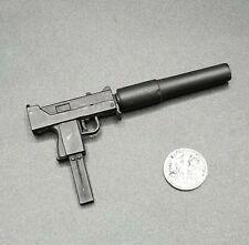 """1:6 Ultimate Soldier MAC-10 Submachine Gun Pistol w/ Large Silencer 12"""" GI Joe"""