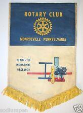 Vintage Monroeville Pennsylvania International Rotary Club Wall Banner Flag