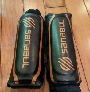 Sanabul Essential Hybrid Kickboxing MMA Shin Guards Copper L/XL