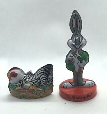 Bugs Bunny Looney Tunes Ornament With Chicken And Eggs On A Basket