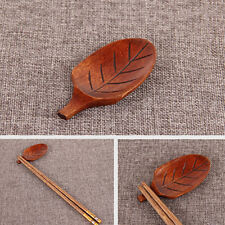 Wood Leaf Leaves Chopsticks Holder Chopsticks Stand Rack Spoon Fork Rest Storage