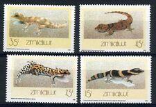 Zimbabwe, 1989 Geckos, Sg 746-49, Fine Mnh Set