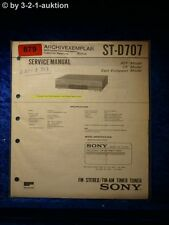 Sony Service Manual ST D707 Tuner (#0879)