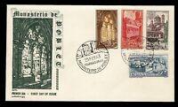 Sobre matasellado de España 1963 Monasterio de Poblet Tarragona First day r.02