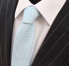 Tie Neck tie Slim Pale Blue Quality Cotton T6132