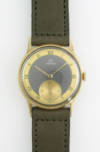OMEGA 14K Yellow Gold Small Second Manual Vintage 1939's Overhauled