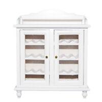 1/12 Miniaturen Puppenhaus Wohnzimmer Möbel Aus Holz Weinschrank - White