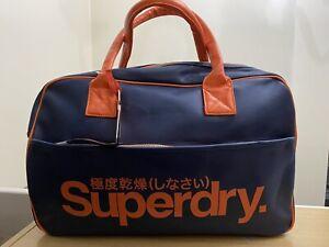 Superdry Coaches Tote Bag - Navy/Jaffa BNWT - Ref NOVF16