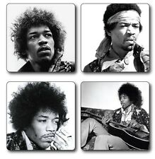 Jimi Hendrix Themed Coasters Set of 4 - High quality compressed hardwood backed