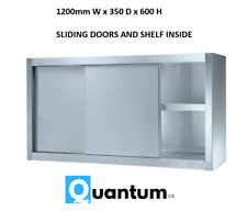 1200mm Wall Hanging Cupboard Commercial Storage Stainless Steel