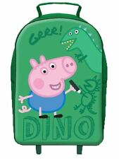 George Pig Dino Premium Wheeled Bag Green 11 Litres - Trolley Peppa Travel Kids