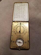 VINTAGE SUNWATCH BRASS POCKET Compass