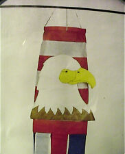 "BALD EAGLE USA PATRIOTIC OUTDOOR WINDSOCK 45"" NYLON RED WHITE BLUE INDOOR"
