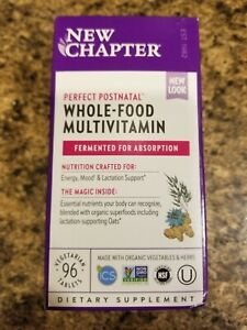 New Chapter Perfect Postnatal Fermented Whole-Food Multivitamin 96 Tablets 2022