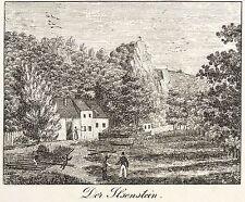 HARZ - ILSESTEIN - Ilsenstein - Federlithografie 1830
