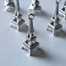 8Pcs Eiffel Tower Charm Pendant Necklace Findings Bracelet Supplies Components