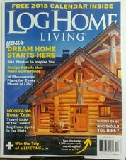 Log Home Living December 2017 Your Dream Home Starts Here FREE SHIPPING sb