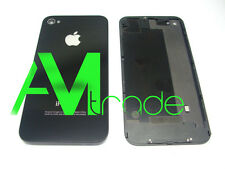 Back Cover Copribatteria Vetro posteriore Per iphone 4 4G NERO BLACK
